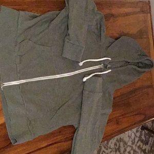 Zip down hoodie